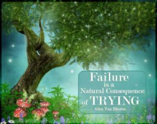 Failure is a natural consequence of trying - Jigsaw Puzzle